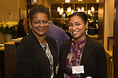 The Hyde Park Chamber of Commerce held its monthly First Thursday networking event this past Thursday at the Hyatt Place Chicago &ndash; South / University Medical Center located at 5225 S. Harper Ave.<br /> <br /> 9587 &ndash; Deborah Carter and Zyshia Williams of Toni Preckwinkle&rsquo;s office.