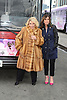 "Joan Rivers and Melissa Rivers honored by Gray Line New York with a ""Ride of Fame"" bus with their name on a decal in the front of the bus on March 1, 2013 at Pier 78 in New York City."
