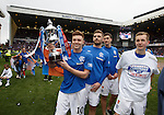 Lewis Macleod, Kyle Hutton, Luca Gasparotto and Robbie Crawford