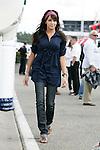Motorsports / Formula 1: World Championship 2008, GP of Germany, Deutschland, deutscher, singer Raquel del Rosario Macias, girlfriend of 05 Fernando Alonso  (ESP, ING Renault F1 Team)