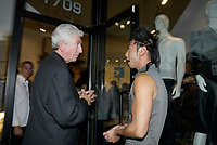 Montreal (QC) CANADA, October 3rd 2007 -<br /> Gilles Duceppe, leader of the Bloc Quebecois (L) at the<br /> <br /> Launch of Montreal Designer Dinh Ba, at his boutique on Amherst street in Montreal.<br /> <br /> <br /> photo : (c) &reg;Pierre Roussel -  images Distribution