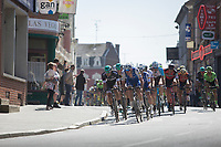 Tim Declercq (BEL/Quick-Step Floors) pacing the peloton through one of those typical Northren French towns<br /> <br /> 115th Paris-Roubaix 2017 (1.UWT)<br /> One day race: Compi&egrave;gne &gt; Roubaix (257km)