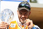 Overall Winner Eugenio Bianchi <br /> FIS Rollerski World Cup 2013 at Dobbiaco, Toblach, Italy.<br /> <br /> Poursuit race and overall podium<br /> <br /> photo: &copy; PierreTeyssot.com