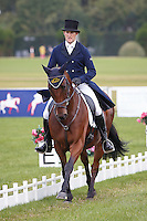 NZL-Tim Rusbridge (ONEFORTHENOTEBOOK) INTERIM-=78TH: CCI3* SECOND DAY OF DRESSAGE: 2015 GBR-Blenheim Palace International Horse Trial (Friday 18 September) CREDIT: Libby Law COPYRIGHT: LIBBY LAW PHOTOGRAPHY