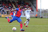 Fejiri Okenabirhie of Dagenham  during Dagenham & Redbridge vs Tranmere Rovers, Vanarama National League Football at the Chigwell Construction Stadium on 10th March 2018