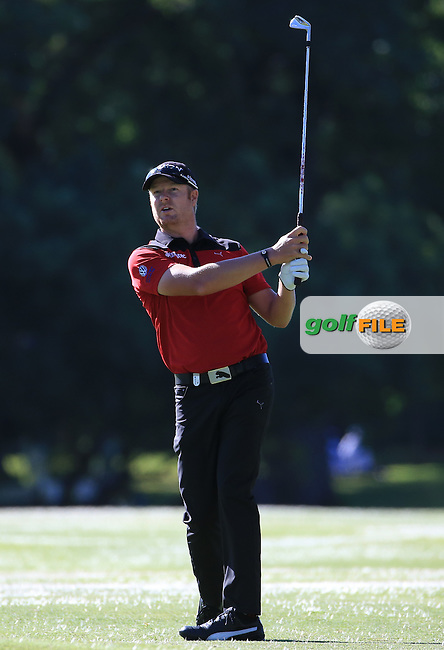 Jacques Blaauw (RSA) plays to the 5th during the recommencement of Round Three of the 2016 BMW SA Open hosted by City of Ekurhuleni, played at the Glendower Golf Club, Gauteng, Johannesburg, South Africa.  10/01/2016. Picture: Golffile | David Lloyd<br /> <br /> All photos usage must carry mandatory copyright credit (&copy; Golffile | David Lloyd)