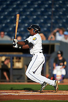Akron RubberDucks center fielder Greg Allen (4) at bat during a game against the Richmond Flying Squirrels on July 26, 2016 at Canal Park in Akron, Ohio .  Richmond defeated Akron 10-4.  (Mike Janes/Four Seam Images)