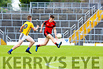 Sean O'Shea Kenmare Shamrocks drives upfield tracked by Cormac Mulvihill Feale Rangers during the SFC clash in Fitzgerald Stadium on Sunday