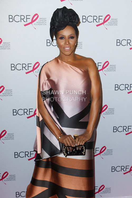 "June Ambrose attends The Breast Cancer Research Foundation ""Super Nova"" Hot Pink Party on May 12, 2017 at the Park Avenue Armory in New York City."