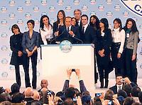 ANTONIO RUGGIERO CONSIGLIERA REGIONALE DELLA CAMPANIA  ACCUSATA DAL MARITO DI AVER AVUTO UNA RELAZIONE CON  BERLUSCONI.NELLA FOTO ANTONIA RUGGIEROALLE SPALLE DI BERLUSCONI DURANTE UN COMIZIO ELETTORALE DEL 2010.FOTO CIRO DE LUCA