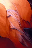 Simulated lava flow of eroded sandstone in the Lower Antelope slot canyon of Arizona near Page Arizona