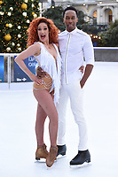 "Lemar and Melody Le Moal<br /> at the ""Dancing on Ice"" launch photocall, natural History Museum, London<br /> <br /> <br /> ©Ash Knotek  D3365  19/12/2017"