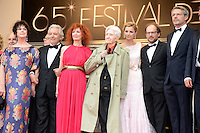 "Anne Duperey,Pierre Arditi, Sabine Azema, Alain Resnais, Anne Consigny,Denis Podalydes and Lambert Wilson attending the ""vous n avez encore rien vu (You ain t seen nothin yet)"" Premiere during the 65th annual International Cannes Film Festival in Cannes, 21th May 2012...Credit: Timm/face to face /MediaPunch Inc. ***FOR USA ONLY***"