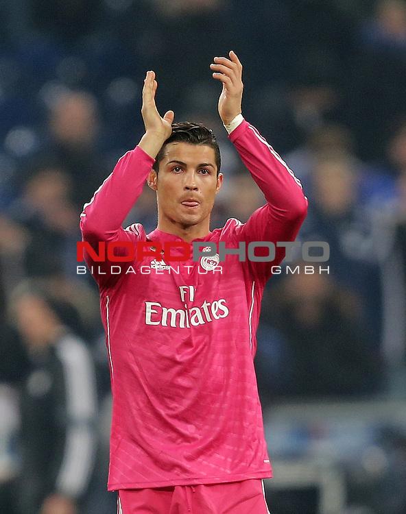 18.02.2015, Veltins-Arena, Gelsenkirchen, Championsleague, FC Schalke 04 vs. Real Madrid<br /> Cristiano Ronaldo (Real Madrid)<br /> Foto &copy; nordphoto /  Bratic