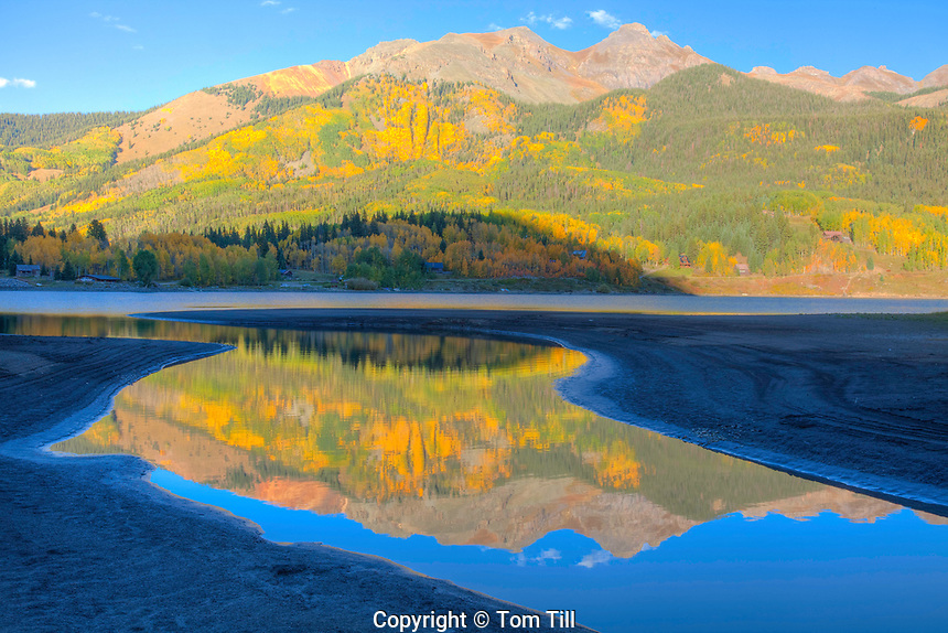 Reflections in Trout Lake, Uncompahgre National Forest, Colorado San Juan Mountains