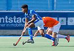 UTRECHT - Terrance Pieters (Kampong)   tijdens   de hoofdklasse competitiewedstrijd mannen, Kampong-Bloemendaal (2-2) .  COPYRIGHT   KOEN SUYK