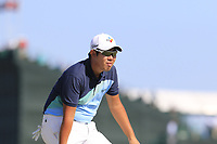 Byeong Hun An (KOR) at the 17th green during Thursday's Round 1 of the 118th U.S. Open Championship 2018, held at Shinnecock Hills Club, Southampton, New Jersey, USA. 14th June 2018.<br /> Picture: Eoin Clarke | Golffile<br /> <br /> <br /> All photos usage must carry mandatory copyright credit (&copy; Golffile | Eoin Clarke)