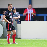 Lincoln City's Harry Toffolo during the pre-match warm-up<br /> <br /> Photographer Chris Vaughan/CameraSport<br /> <br /> Football Pre-Season Friendly (Community Festival of Lincolnshire) - Gainsborough Trinity v Lincoln City - Saturday 6th July 2019 - The Martin & Co Arena - Gainsborough<br /> <br /> World Copyright © 2018 CameraSport. All rights reserved. 43 Linden Ave. Countesthorpe. Leicester. England. LE8 5PG - Tel: +44 (0) 116 277 4147 - admin@camerasport.com - www.camerasport.com