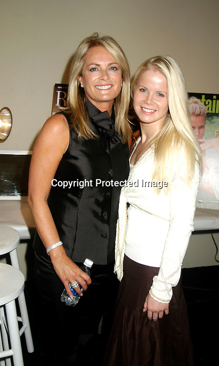 ..Pamella Roland and Crystal Hunt of Guiding Light ..at The Pamella Roland Spring 2006 FAshion Show on ..September 13, 2005 at the Tents at Olympus Fasion Week. ..Photo by Robin Platzer, Twin Images