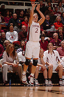 1 January 2006: Krista Rappahahn during Stanford's 91-68 win over the UCLA Bruins at Maples Pavilion in Stanford, CA.