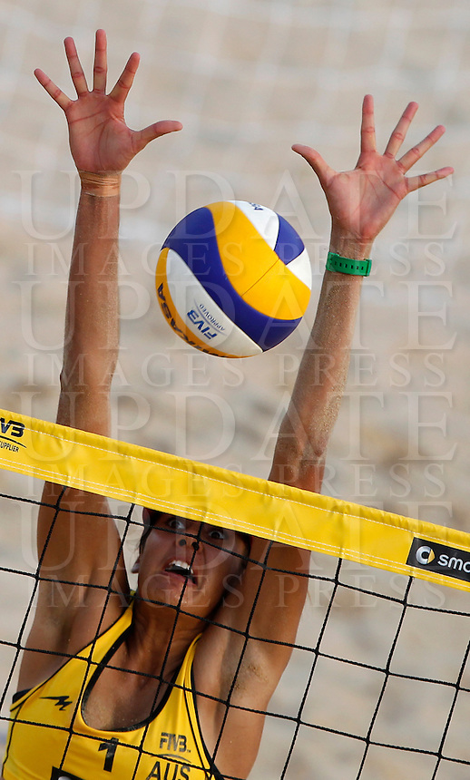 Australia's Taliqua Clancy in action at the Beach Volleyball World Tour Grand Slam, Foro Italico, Rome, 21 June 2013.<br /> UPDATE IMAGES PRESS/Isabella Bonotto