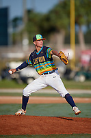 Treyton Rank during the WWBA World Championship at the Roger Dean Complex on October 21, 2018 in Jupiter, Florida.  Treyton Rank is a right handed pitcher from Acworth, Georgia who attends Dominion Christian School.  (Mike Janes/Four Seam Images)