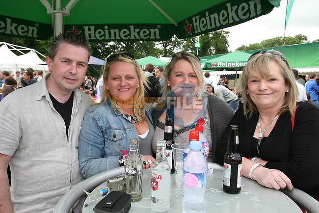Brian Lenehan, Shirley McCourt, Michelle Lawless and Ena Gallagher from Drogheda and Duleek at Slane Concert 2009...Photo NEWSFILE/Jenny Matthews.(Photo credit should read Jenny Matthews/NEWSFILE)....This Picture has been sent you under the condtions enclosed by:.Newsfile Ltd..The Studio,.Millmount Abbey,.Drogheda,.Co Meath..Ireland..Tel: +353(0)41-9871240.Fax: +353(0)41-9871260.GSM: +353(0)86-2500958.email: pictures@newsfile.ie.www.newsfile.ie.FTP: 193.120.102.198.