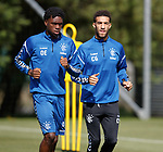 10.08.18 Rangers training: Ovie Ejaria and Connor Goldson