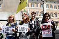 Roma, 2 Maggio 2017<br /> Manifestazione davanti al Parlamento per la libert&agrave; di stampa e per la liberazione degli oltre 170 giornalisti detenuti nelle carceri turche