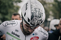 Daniel McLay (GBR/Fortuneo-Vital Concept) wins the 77th Euro Metropole Tour 2017 with his stand-out helmet graphics by Karl Kopinski<br /> <br /> La Louvière > Tournai (BEL): 188.6 km