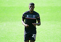Lincoln City's Timothy Eyoma during the pre-match warm-up<br /> <br /> Photographer Chris Vaughan/CameraSport<br /> <br /> The EFL Sky Bet League One - Milton Keynes Dons v Lincoln City - Saturday 19th September 2020 - Stadium MK - Milton Keynes<br /> <br /> World Copyright © 2020 CameraSport. All rights reserved. 43 Linden Ave. Countesthorpe. Leicester. England. LE8 5PG - Tel: +44 (0) 116 277 4147 - admin@camerasport.com - www.camerasport.com