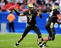 31 Aug 2008: Colorado quarterback Cody Hawkins (7) readies a pass against Colorado State. The Colorado Buffaloes defeated the Colorado State Rams 38-17 at Invesco Field at Mile High in Denver, Colorado. FOR EDITORIAL USE ONLY
