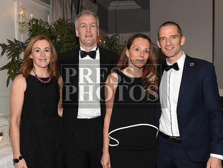 Ian and Ciara O'Reilly and Mark and Helene O'Shea at the Drogheda Independent Sports Star of the Year Awards in The Westcourt Hotel. Photo:Colin Bell/pressphotos.ie