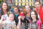 Masquerade: Getting set with tickets selling like hotcakes are the Youth Committee of the Listowel Youth Cafe whose fund-raising Masquerade Ball takes place in July. Pictured front l-r Natalie McCarthy, Lisa McDonough and Deirdre O'Donnell. Back l-r Louise Lyons (co-ordinator), Danielle O'Connor, Orla O'Connell and Lorraine Bowler (North Kerry Together).   Copyright Kerry's Eye 2008