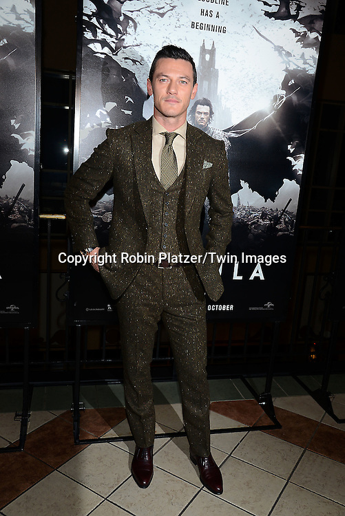actor Luke Evans, who plays Dracula, attends the Special Screening of &quot;Dracula Untold&quot;  on October 6, 2014 at The ABC Loews 34th Street Imax Theatre In New York City. <br /> <br /> photo by Robin Platzer/Twin Images<br />  <br /> phone number 212-935-0770