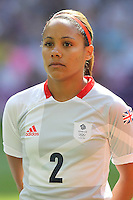 Alex SCOTT of Great Britain - Great Britain Women vs New Zealand Women - Womens Olympic Football Tournament London 2012 Group E at the Millenium Stadium, Cardiff, Wales - 25/07/12 - MANDATORY CREDIT: Gavin Ellis/SHEKICKS/TGSPHOTO - Self billing applies where appropriate - 0845 094 6026 - contact@tgsphoto.co.uk - NO UNPAID USE.