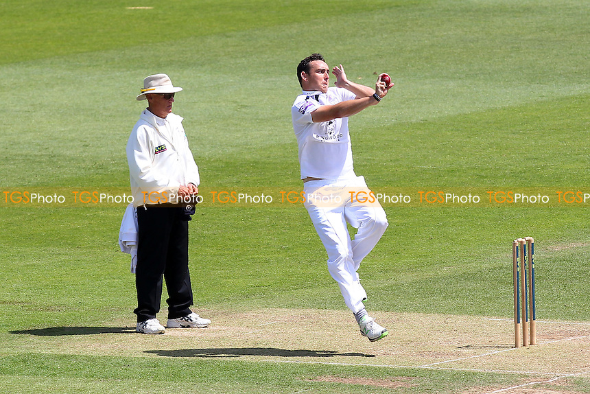 Kyle Abbott in bowling action for Hampshire - Hampshire CCC vs Essex CCC - LV County Championship Division Two Cricket at the Ageas Bowl, West End, Southampton - 17/06/14 - MANDATORY CREDIT: Gavin Ellis/TGSPHOTO - Self billing applies where appropriate - 0845 094 6026 - contact@tgsphoto.co.uk - NO UNPAID USE
