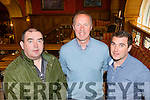 Music<br /> --------<br /> Putting things together for the up coming Patrick O'Keeffe music festival which takes place on Oct 23-26 next at the Riverisland hotel in the town last Saturday afternoon were L-R Patsy O'Donoghue, Cormac O'Mahony and Paudie O'Connor