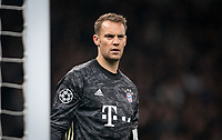 Goalkeeper Manuel Neuer of Bayern Munich during the UEFA Champions League group match between Tottenham Hotspur and Bayern Munich at Wembley Stadium, London, England on 1 October 2019. Photo by Andy Rowland.