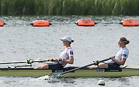 Caversham, Nr Reading, Berkshire.<br /> <br /> GBR W2-. left. Heather STANNING and Helen GLOVER, Olympic Rowing Team Announcement morning training before the Press conference at the RRM. Henley.<br /> <br /> Thursday  09.06.2016<br /> <br /> [Mandatory Credit: Peter SPURRIER/Intersport Images]