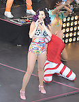 HOLLYWOOD, CA - JUNE 26: Katy Perry  performs at 'Katy Perry: Part Of Me' Los Angeles Premiere at Grauman's Chinese Theatre on June 26, 2012 in Hollywood, California.