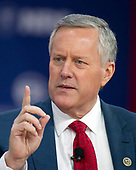 United States Representative Mark Meadows (Republican of North Carolina), Chairman of the Freedom Caucus, speaks at the Conservative Political Action Conference (CPAC) at the Gaylord National Resort and Convention Center in National Harbor, Maryland on Friday, February 23, 2018.<br /> Credit: Ron Sachs / CNP