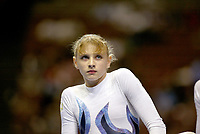 Alina Kozich of Ukraine performs at 2003 World Championships Artistic Gymnastics on August 18, 2003 at Anaheim, California, USA.