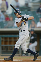 April 22, 2002: Rocco Baldelli of the Bakersfield Blaze in action against the San Bernardino Stampede at Arrowhead Credit Union Park in San Bernardino,CA.  Photo by Larry Goren/Four Seam Images