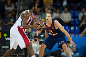 3rd November 2017, Palau Blaugrana, Barcelona, Spain; Turkish Airlines Euroleague Basketball, FC Barcelona Lassa versus Olympiacos Piraeus; 25 KOPONEN, PETTERI of FC Barcelona Lassa in action during the match of round 5 of regular season in the 2017/2018 Turkish Airlines EuroLeague