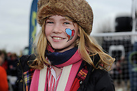 Face painting in the LV= family area at the Aviva Premiership match between Harlequins and Saracens at Twickenham on Tuesday 27 December 2011 (Photo by Rob Munro)