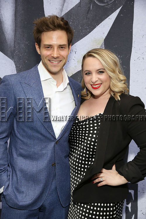 "Ben Rappaport and Megan Kane attends the Broadway Opening Night Performance for ""Beetlejuice"" at The Wintergarden on April 25, 2019  in New York City."
