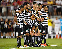 Orlando, FL - Saturday Jan. 21, 2017: Corinthians midfielder Giovanni Cardoso (17) looks at the crowd during the penalty kick shootout of the Florida Cup Championship match between São Paulo and Corinthians at Bright House Networks Stadium. The game ended 0-0 in regulation with São Paulo defeating Corinthians 4-3 on penalty kicks.