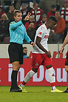 30.11.2019, RheinEnergieStadion, Koeln, GER, 1. FBL, 1.FC Koeln vs. FC Augsburg,<br />  <br /> DFL regulations prohibit any use of photographs as image sequences and/or quasi-video<br /> <br /> im Bild / picture shows: <br /> 2 mal Hand zeigt Schiedsrichter / referee Tobias Stieler (SR)<br /> <br /> Foto © nordphoto / Meuter