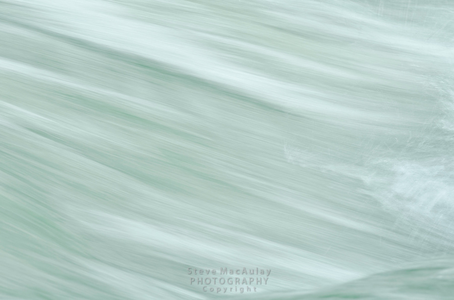 Motion blur photograph of flowing Kanka River, near Naranag, Kashmir, India.